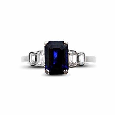 1.20ct Sapphire & Diamond Five Stone Ring